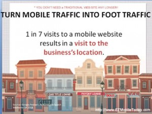 Cash for gold mobile traffic into foot traffic