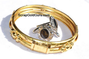 Scrap-Gold-Bracelet-With-Earings